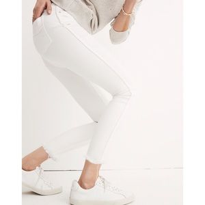Madewell High Rise Skinny Crop Button Front Jeans